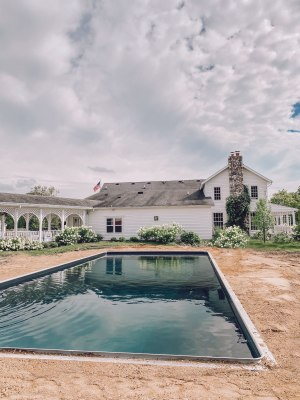 Finished swimming pool at White Cottage Farm