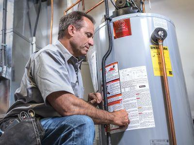propane water heater