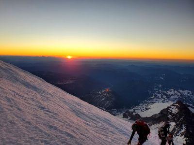 Views from Christina Cozzens Mt. Rainier Climb